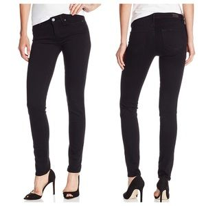 Paige Skyline Skinny Jeans in Black Shadow